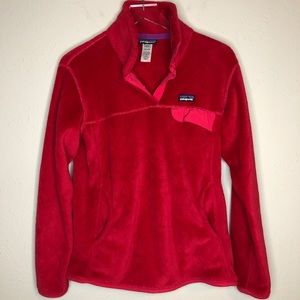 Patagonia berry pink retool snap-t pullover